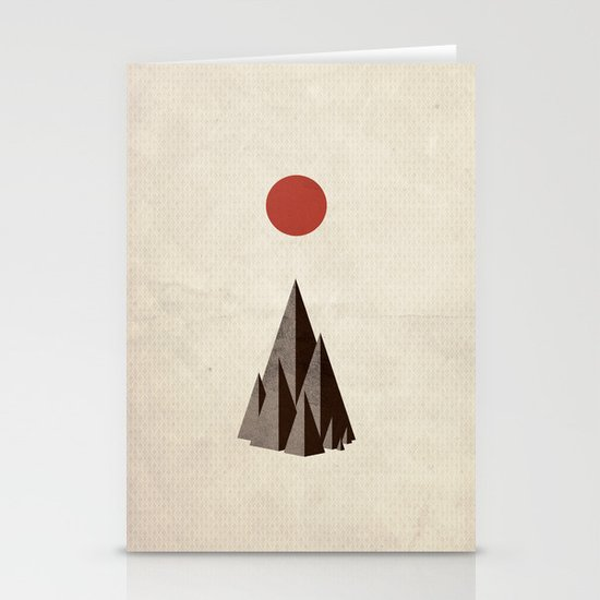Minimal Mountains Stationery Card