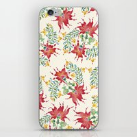Dragon Flower Watercolor iPhone & iPod Skin