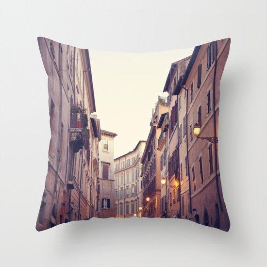 Rome At Dusk Throw Pillow