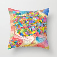 Clusters 3 Throw Pillow