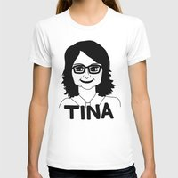 Tina Fey Womens Fitted Tee White SMALL