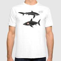 i am tony shark Mens Fitted Tee White SMALL