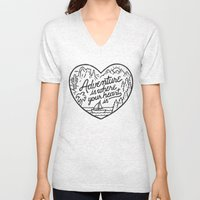 Adventure Is Where Your … Unisex V-Neck
