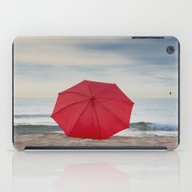 Red Umbrella Lying At Th… iPad Case