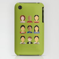 iPhone 3Gs & iPhone 3G Cases featuring The King and I Character Chart by Desiree Nasim