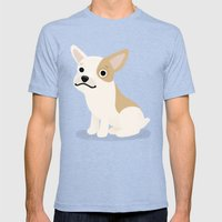 Frenchie - Cute Dog Seri… Mens Fitted Tee Tri-Blue SMALL
