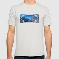 Rivanna River Mens Fitted Tee Silver SMALL