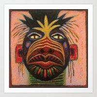 Medicine Mask I Art Print