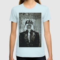 Unreal Party Darth Vader Womens Fitted Tee Light Blue SMALL