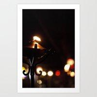 City Torch Art Print