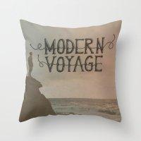 Modern Voyage Throw Pillow