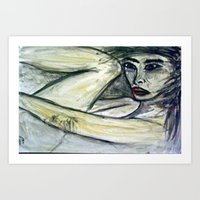 NUDE IN DEEP THOUGHTS Ve… Art Print