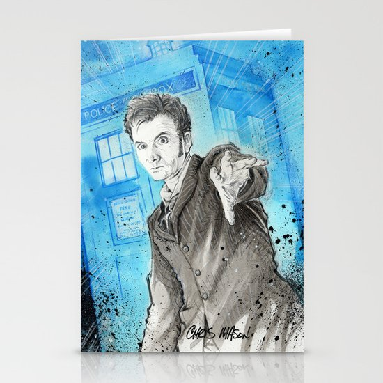 Doctor Who: The 10th Doctor Stationery Card