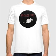 Mouse Rat Mens Fitted Tee White SMALL