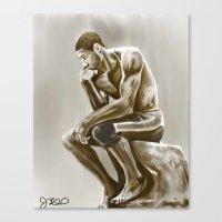 Tim Duncan, The Thinker Canvas Print