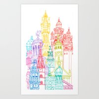 Glasgow Towers Art Print