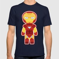 Chibi Iron Man Mens Fitted Tee Navy SMALL