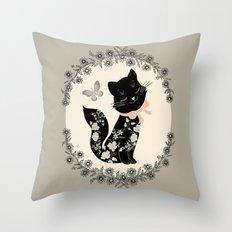 SophistiCat Throw Pillow