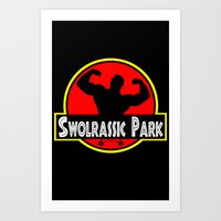 Swolrassic Park Art Print