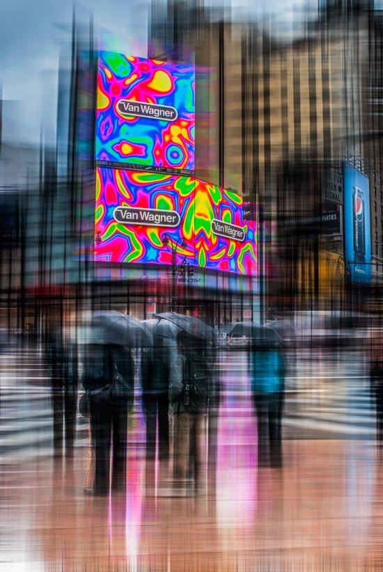 Rainy day in New York City II Art Print