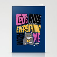 C.R.E.A.M. Cats Rule Everything Around Me Stationery Cards