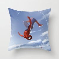 Web Head Throw Pillow