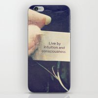 Live By Intuition And Co… iPhone & iPod Skin