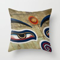 The Watchful One Throw Pillow