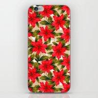 Poinsettia iPhone & iPod Skin