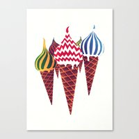 Summer in Moscow Canvas Print