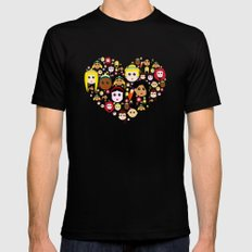 Love Princesses SMALL Black Mens Fitted Tee