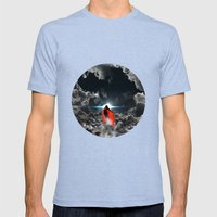 Ad lucem (Towards the light) Mens Fitted Tee Tri-Blue SMALL