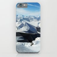 iPhone & iPod Case featuring low poly mountains by tony tudor