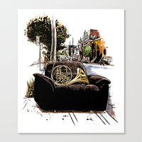 Chairs of Montreal Canvas Print