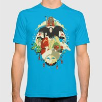 Don't Be Afraid Mens Fitted Tee Teal SMALL