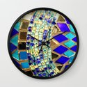 mosaic and beads [photograph] Wall Clock