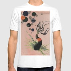 Koi Bubbles Mens Fitted Tee SMALL White