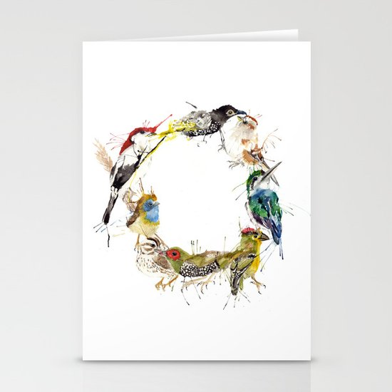 Endangered Wreath Stationery Card