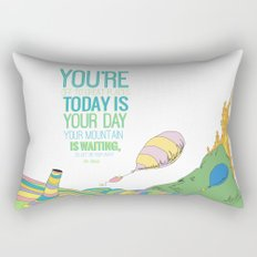 YOUR MOUNTAIN IS WAITING.. DR. SEUSS, OH THE PLACES YOU'LL GO  Rectangular Pillow