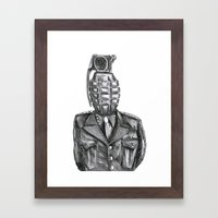 General Damage Framed Art Print