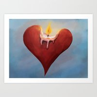 Burning Passion Art Print