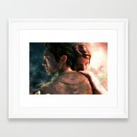 Live For Love/Fight For … Framed Art Print