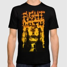 Fight with fire Black SMALL Mens Fitted Tee