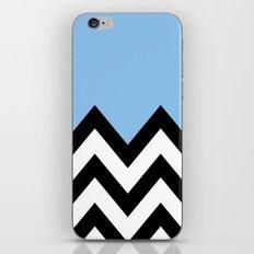 BLUE COLORBLOCK CHEVRON iPhone & iPod Skin