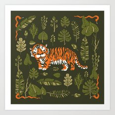 Tiger in forest Art Print