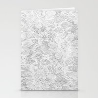 White Lace Stationery Cards