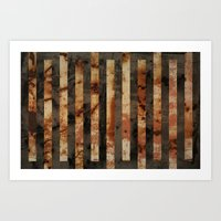 Rusty Barrel Abstraction Art Print