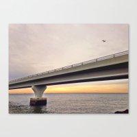 Sunrise Under The Bridge Canvas Print