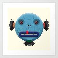 Mickley Heads 01 Art Print
