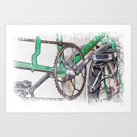 Pushing It Art Print